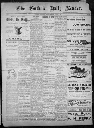 Primary view of object titled 'The Guthrie Daily Leader. (Guthrie, Okla.), Vol. 8, No. 53, Ed. 1, Sunday, August 2, 1896'.