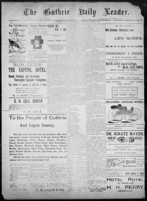Primary view of object titled 'The Guthrie Daily Leader. (Guthrie, Okla.), Vol. 8, No. 55, Ed. 1, Wednesday, August 5, 1896'.