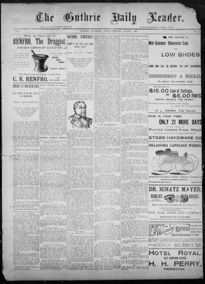 Primary view of object titled 'The Guthrie Daily Leader. (Guthrie, Okla.), Vol. 8, No. 59, Ed. 1, Sunday, August 9, 1896'.
