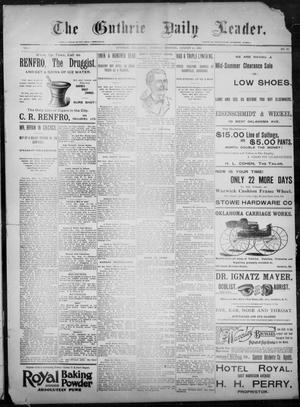 Primary view of object titled 'The Guthrie Daily Leader. (Guthrie, Okla.), Vol. 8, No. 60, Ed. 1, Tuesday, August 11, 1896'.
