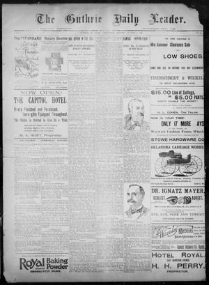 Primary view of object titled 'The Guthrie Daily Leader. (Guthrie, Okla.), Vol. 8, No. 61, Ed. 1, Wednesday, August 12, 1896'.