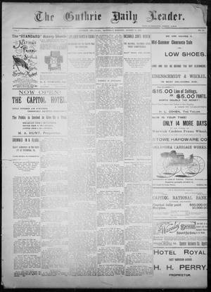 Primary view of object titled 'The Guthrie Daily Leader. (Guthrie, Okla.), Vol. 8, No. 64, Ed. 1, Saturday, August 15, 1896'.