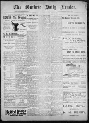 Primary view of object titled 'The Guthrie Daily Leader. (Guthrie, Okla.), Vol. 8, No. 65, Ed. 1, Sunday, August 16, 1896'.