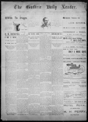 Primary view of object titled 'The Guthrie Daily Leader. (Guthrie, Okla.), Vol. 8, No. 71, Ed. 1, Sunday, August 23, 1896'.