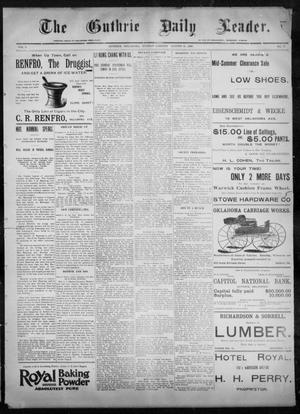 Primary view of object titled 'The Guthrie Daily Leader. (Guthrie, Okla.), Vol. 8, No. 77, Ed. 1, Sunday, August 30, 1896'.
