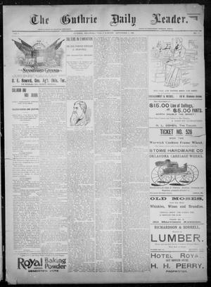 Primary view of object titled 'The Guthrie Daily Leader. (Guthrie, Okla.), Vol. 8, No. 81, Ed. 1, Friday, September 4, 1896'.