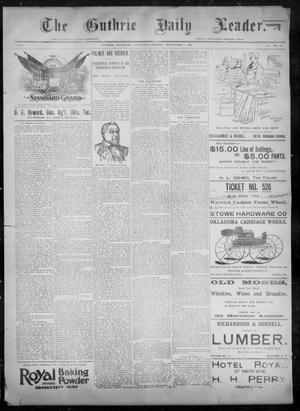 Primary view of object titled 'The Guthrie Daily Leader. (Guthrie, Okla.), Vol. 8, No. 82, Ed. 1, Saturday, September 5, 1896'.