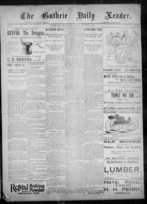 Primary view of object titled 'The Guthrie Daily Leader. (Guthrie, Okla.), Vol. 8, No. 83, Ed. 1, Tuesday, September 8, 1896'.