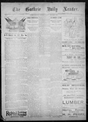 Primary view of object titled 'The Guthrie Daily Leader. (Guthrie, Okla.), Vol. 8, No. 84, Ed. 1, Wednesday, September 9, 1896'.