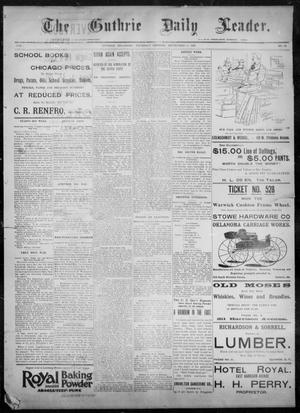 Primary view of object titled 'The Guthrie Daily Leader. (Guthrie, Okla.), Vol. 8, No. 85, Ed. 1, Thursday, September 10, 1896'.