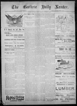 Primary view of object titled 'The Guthrie Daily Leader. (Guthrie, Okla.), Vol. 8, No. 86, Ed. 1, Friday, September 11, 1896'.