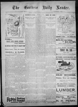 Primary view of object titled 'The Guthrie Daily Leader. (Guthrie, Okla.), Vol. 8, No. 87, Ed. 1, Saturday, September 12, 1896'.