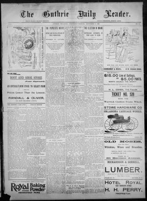 Primary view of object titled 'The Guthrie Daily Leader. (Guthrie, Okla.), Vol. 8, No. 90, Ed. 1, Wednesday, September 16, 1896'.