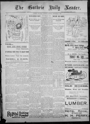 Primary view of object titled 'The Guthrie Daily Leader. (Guthrie, Okla.), Vol. 8, No. 93, Ed. 1, Saturday, September 19, 1896'.