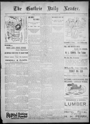 Primary view of object titled 'The Guthrie Daily Leader. (Guthrie, Okla.), Vol. 8, No. 96, Ed. 1, Wednesday, September 23, 1896'.