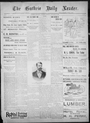 Primary view of object titled 'The Guthrie Daily Leader. (Guthrie, Okla.), Vol. 8, No. 97, Ed. 1, Thursday, September 24, 1896'.
