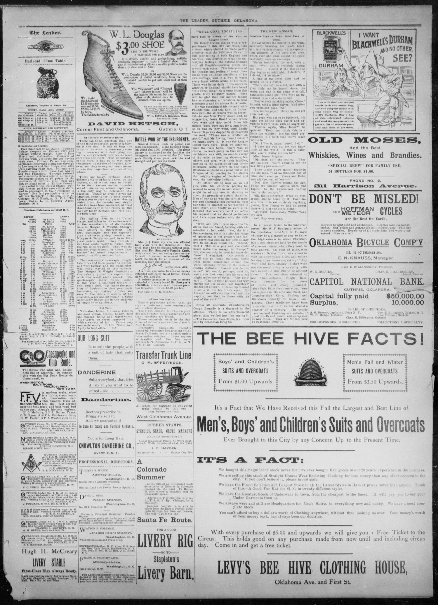 The Guthrie Daily Leader. (Guthrie, Okla.), Vol. 8, No. 98, Ed. 1, Friday, September 25, 1896                                                                                                      [Sequence #]: 3 of 4