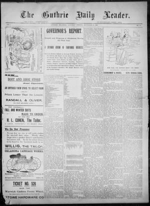 Primary view of object titled 'The Guthrie Daily Leader. (Guthrie, Okla.), Vol. 8, No. 99, Ed. 1, Saturday, September 26, 1896'.