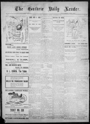 Primary view of object titled 'The Guthrie Daily Leader. (Guthrie, Okla.), Vol. 8, No. 102, Ed. 1, Wednesday, September 30, 1896'.
