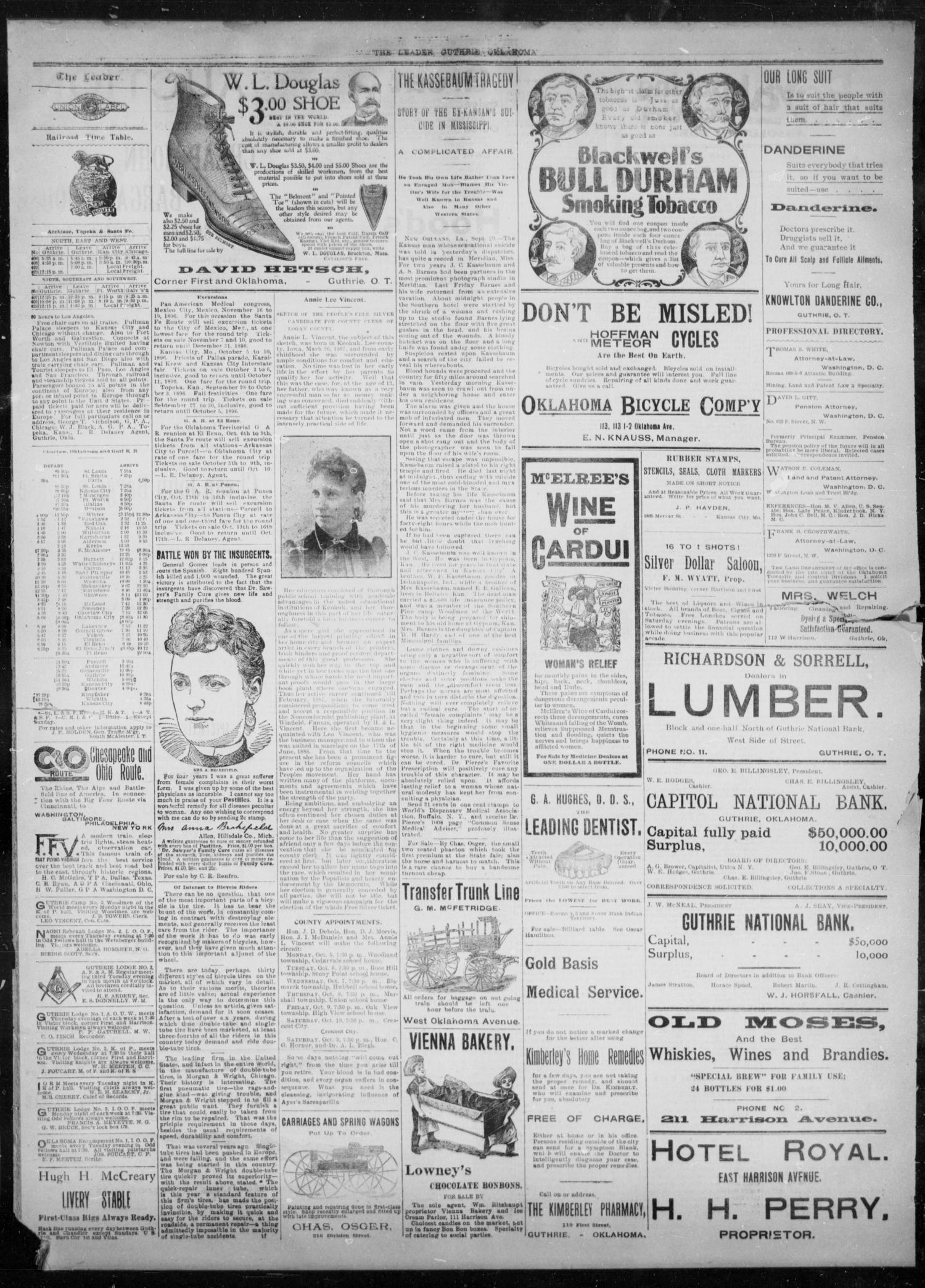 The Guthrie Daily Leader. (Guthrie, Okla.), Vol. 8, No. 102, Ed. 1, Wednesday, September 30, 1896                                                                                                      [Sequence #]: 3 of 4