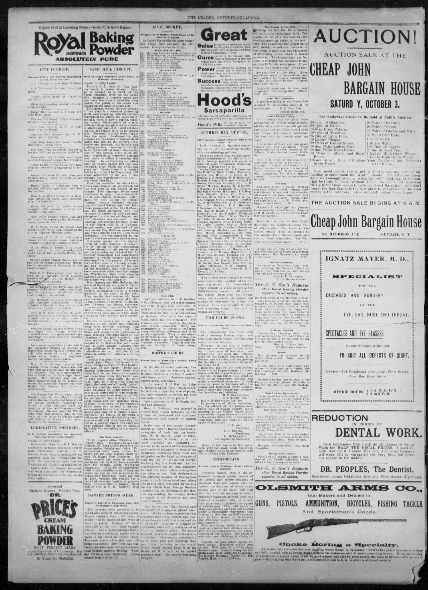 The Guthrie Daily Leader. (Guthrie, Okla.), Vol. 8, No. 102, Ed. 1, Wednesday, September 30, 1896                                                                                                      [Sequence #]: 4 of 4