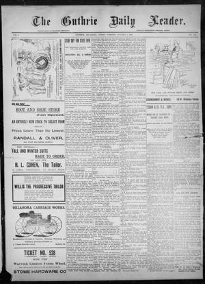 Primary view of object titled 'The Guthrie Daily Leader. (Guthrie, Okla.), Vol. 8, No. 104, Ed. 1, Friday, October 2, 1896'.