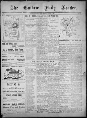 Primary view of object titled 'The Guthrie Daily Leader. (Guthrie, Okla.), Vol. 8, No. 116, Ed. 1, Friday, October 16, 1896'.