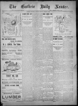 Primary view of object titled 'The Guthrie Daily Leader. (Guthrie, Okla.), Vol. 8, No. 117, Ed. 1, Saturday, October 17, 1896'.