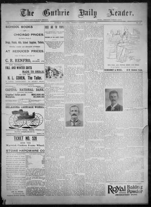 Primary view of object titled 'The Guthrie Daily Leader. (Guthrie, Okla.), Vol. 8, No. 119, Ed. 1, Tuesday, October 20, 1896'.