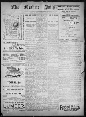 Primary view of object titled 'The Guthrie Daily Leader. (Guthrie, Okla.), Vol. 8, No. 120, Ed. 1, Wednesday, October 21, 1896'.