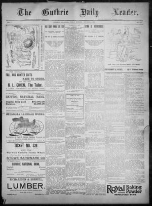 Primary view of object titled 'The Guthrie Daily Leader. (Guthrie, Okla.), Vol. 8, No. 122, Ed. 1, Friday, October 23, 1896'.
