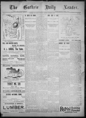 Primary view of object titled 'The Guthrie Daily Leader. (Guthrie, Okla.), Vol. 8, No. 123, Ed. 1, Saturday, October 24, 1896'.