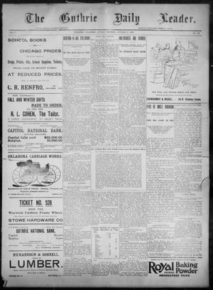 Primary view of object titled 'The Guthrie Daily Leader. (Guthrie, Okla.), Vol. 8, No. 124, Ed. 1, Sunday, October 25, 1896'.