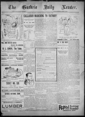 Primary view of object titled 'The Guthrie Daily Leader. (Guthrie, Okla.), Vol. 8, No. 126, Ed. 1, Wednesday, October 28, 1896'.