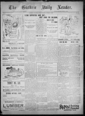 Primary view of object titled 'The Guthrie Daily Leader. (Guthrie, Okla.), Vol. 8, No. 128, Ed. 1, Friday, October 30, 1896'.
