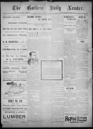 Primary view of object titled 'The Guthrie Daily Leader. (Guthrie, Okla.), Vol. 8, No. 130, Ed. 1, Sunday, November 1, 1896'.