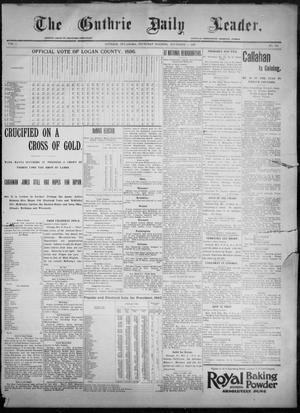 Primary view of object titled 'The Guthrie Daily Leader. (Guthrie, Okla.), Vol. 8, No. 133, Ed. 1, Thursday, November 5, 1896'.