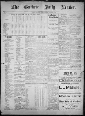 Primary view of object titled 'The Guthrie Daily Leader. (Guthrie, Okla.), Vol. 8, No. 41, Ed. 1, Friday, November 6, 1896'.