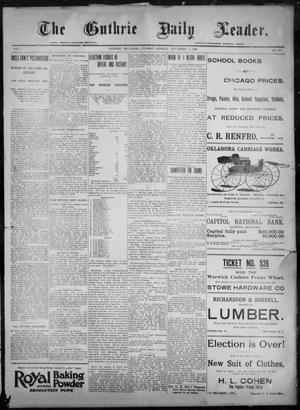 Primary view of object titled 'The Guthrie Daily Leader. (Guthrie, Okla.), Vol. 8, No. 137, Ed. 1, Tuesday, November 10, 1896'.