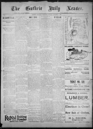 Primary view of object titled 'The Guthrie Daily Leader. (Guthrie, Okla.), Vol. 8, No. 138, Ed. 1, Wednesday, November 11, 1896'.