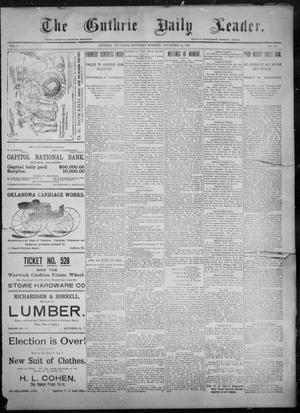 Primary view of object titled 'The Guthrie Daily Leader. (Guthrie, Okla.), Vol. 8, No. 141, Ed. 1, Saturday, November 14, 1896'.