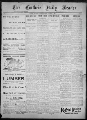 Primary view of object titled 'The Guthrie Daily Leader. (Guthrie, Okla.), Vol. 8, No. 143, Ed. 1, Tuesday, November 17, 1896'.