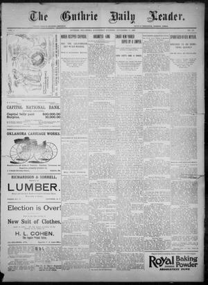 Primary view of object titled 'The Guthrie Daily Leader. (Guthrie, Okla.), Vol. 8, No. 144, Ed. 1, Wednesday, November 18, 1896'.