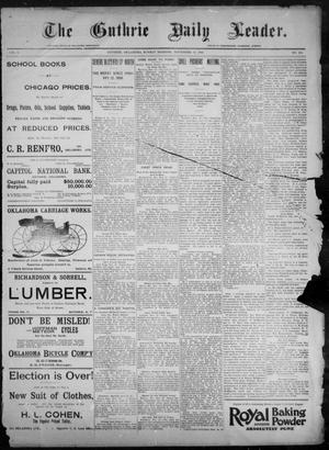 Primary view of The Guthrie Daily Leader. (Guthrie, Okla.), Vol. 8, No. 152, Ed. 1, Sunday, November 29, 1896