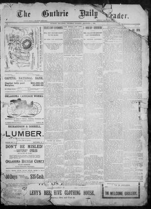 Primary view of object titled 'The Guthrie Daily Leader. (Guthrie, Okla.), Vol. 9, No. 3, Ed. 1, Thursday, December 3, 1896'.