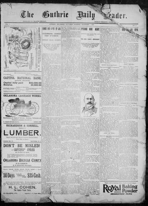 Primary view of object titled 'The Guthrie Daily Leader. (Guthrie, Okla.), Vol. 9, No. 5, Ed. 1, Saturday, December 5, 1896'.