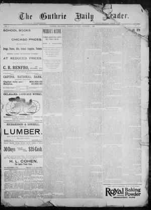 Primary view of object titled 'The Guthrie Daily Leader. (Guthrie, Okla.), Vol. 9, No. 7, Ed. 1, Tuesday, December 8, 1896'.