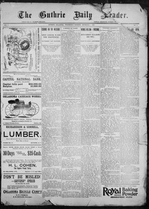Primary view of object titled 'The Guthrie Daily Leader. (Guthrie, Okla.), Vol. 9, No. 8, Ed. 1, Wednesday, December 9, 1896'.