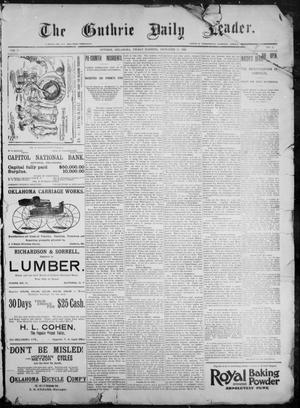 Primary view of object titled 'The Guthrie Daily Leader. (Guthrie, Okla.), Vol. 9, No. 10, Ed. 1, Friday, December 11, 1896'.