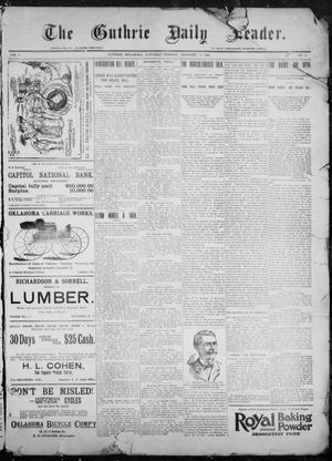 Primary view of object titled 'The Guthrie Daily Leader. (Guthrie, Okla.), Vol. 9, No. 11, Ed. 1, Saturday, December 12, 1896'.